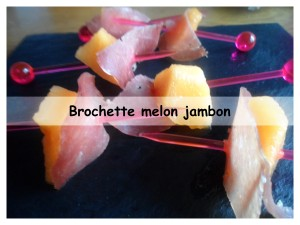 brochette melon jambon présentation