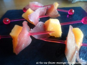 brochette melon jambon