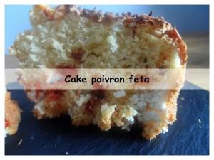 cake poivron feta présentation