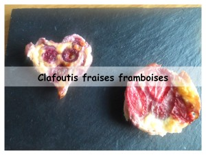 clafoutis fraises framboises présentation