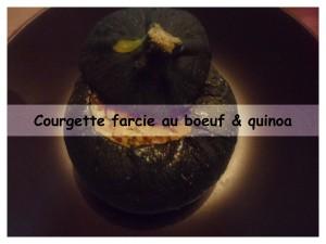 courgette farcie au boeuf & quinoa présentation