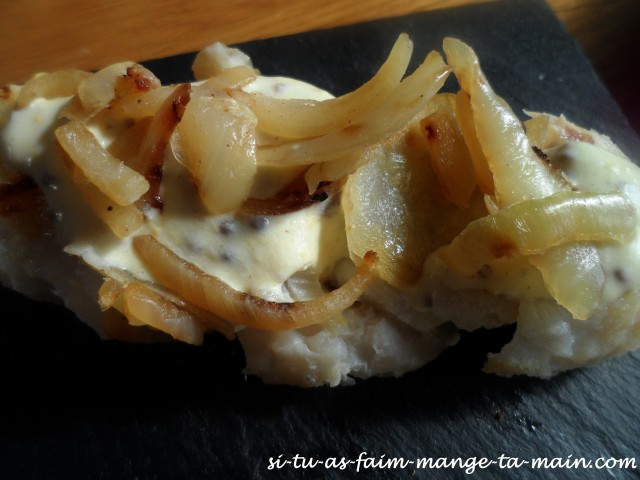 dos de cabillaud à la moutarde & oignon 2