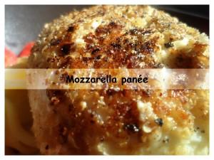 mozzarella panée présentation