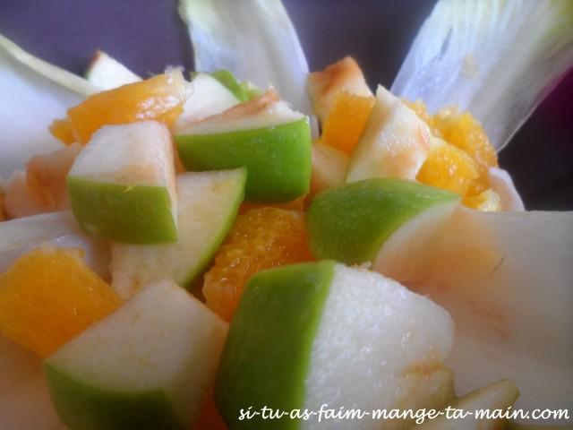 salade d'endive, pomme et orange 2