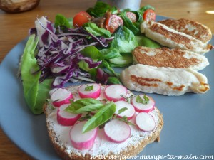 salade poulet crudité