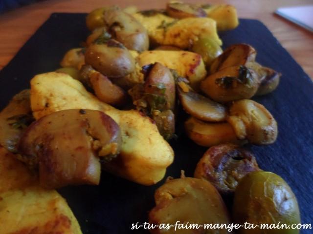 aiguillettes de dinde aux champignons3