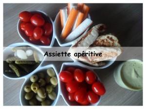 assiette apéritive présentation