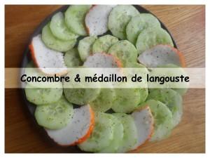 concombre & médaillon de langouste présentation