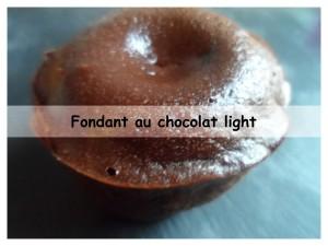 Fondant au chocolat light présentation