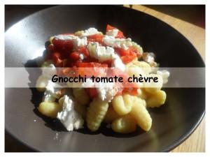 gnocchi tomate chèvre présentation