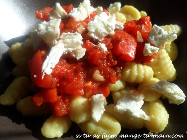 gnocchi tomate chèvre