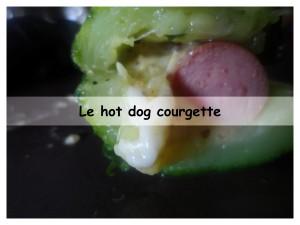 le hot dog courgette présentation