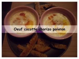 oeuf cocotte chorizo poivron présentation