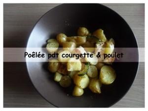 poêlée pdt courgette & poulet présentation