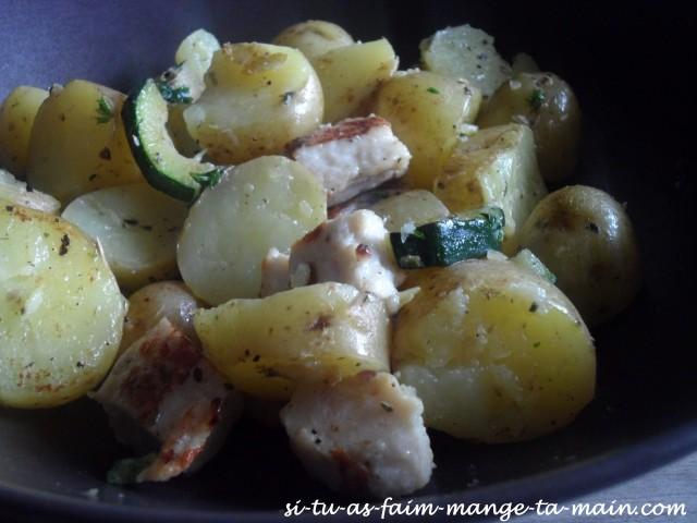 poêlée pdt courgette & poulet