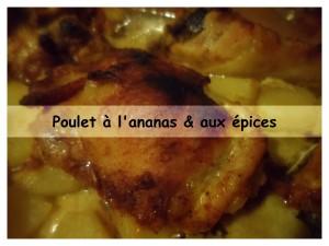 poulet à l'ananas et aux épices présentation