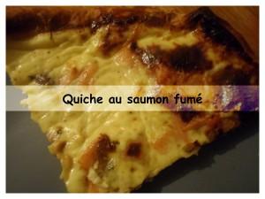 quiche au saumon fumé présentation
