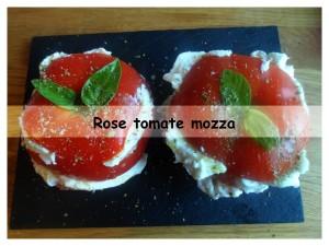 Rose tomate mozza présentation