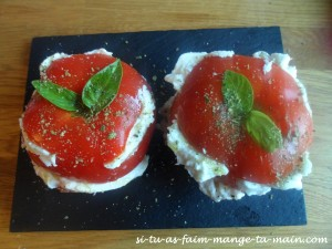 Rose tomate mozza