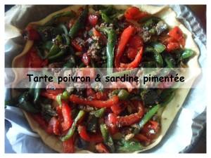 tarte poivron & sardine pimentée présentation