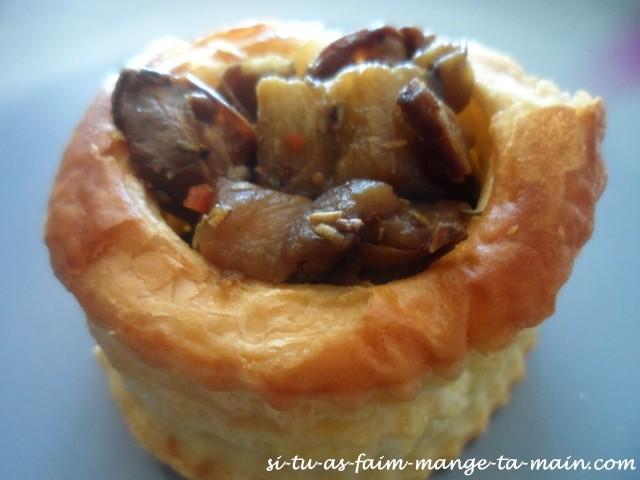 bouchée au cèpe de Bordeaux & aubergine3