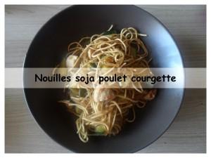 nouilles soja poulet courgette présentation