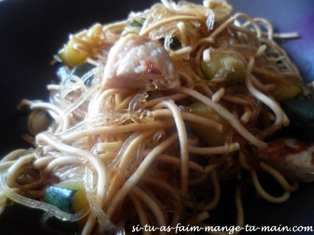 nouilles soja poulet courgette3