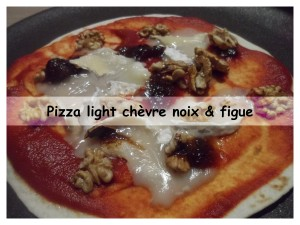 pizza light chèvre noix & chutney figue