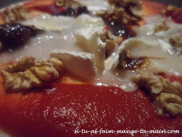 pizza light chèvre noix & chutney figue5