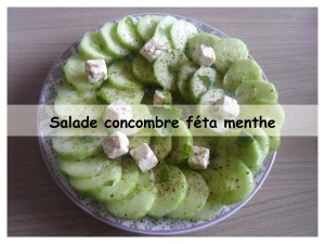 salade concombre féta menthe