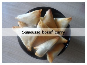 samoussa boeuf curry présentation