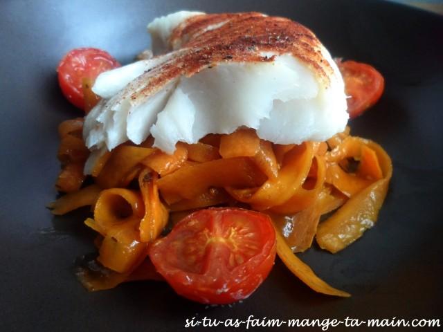 Cabillaud & tagliatelle de carotte au sésame3