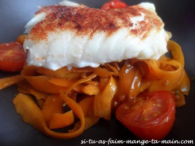 Cabillaud & tagliatelle de carotte au sésame5