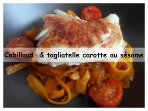Cabillaud & tagliatelle de carotte au sésame51