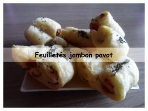 feuilletés jambon pavot