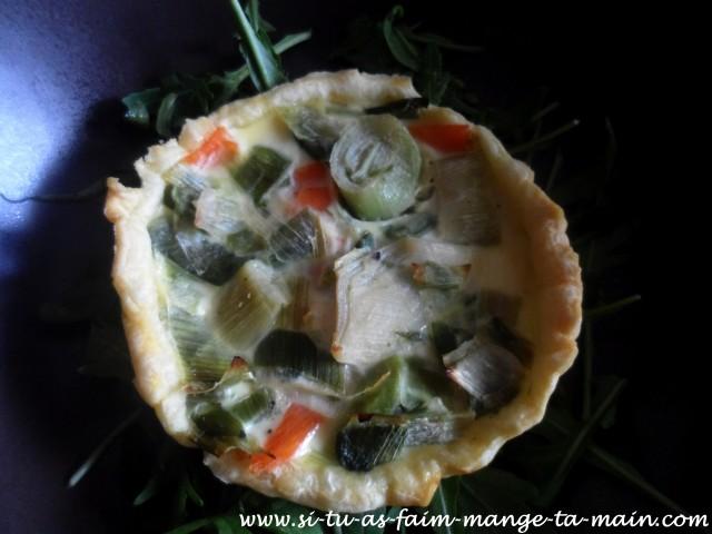 Mini quiche poireaux saumon2