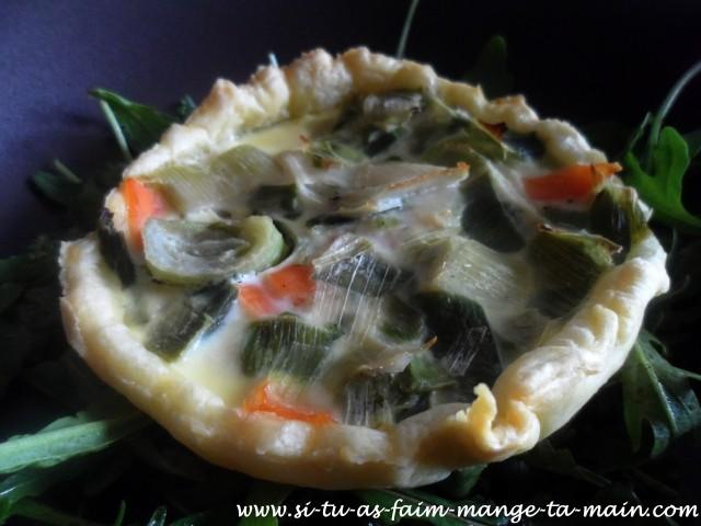 Mini quiche poireaux saumon4
