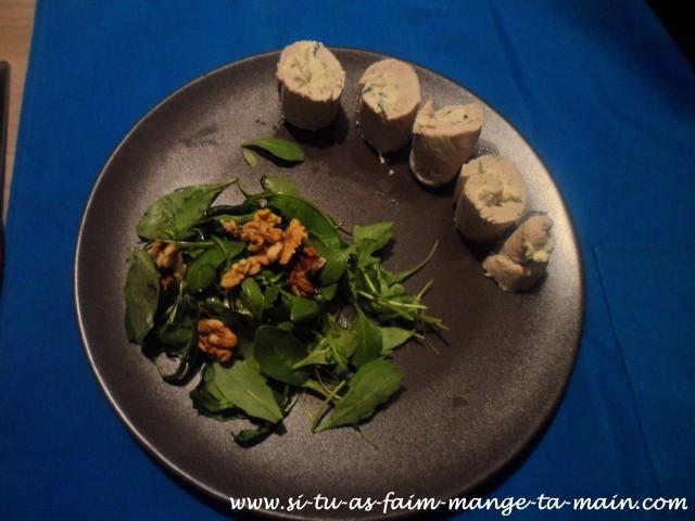 roulé de dinde fromage ciboulette