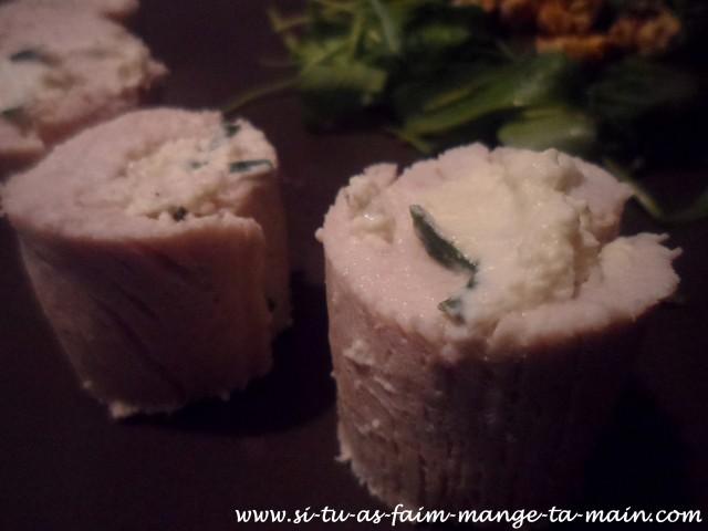 roulé de dinde fromage ciboulette2