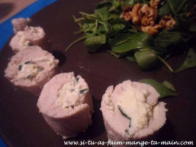 roulé de dinde fromage ciboulette4