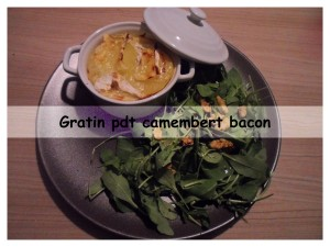 gratin pdt camembert bacon