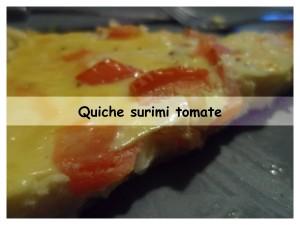 quiche surimi tomate