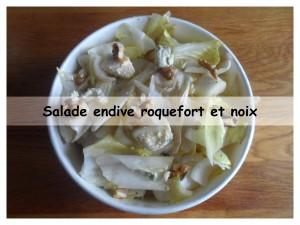 salade endive roquefort et noix