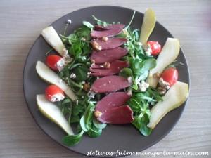 salade magret et poire