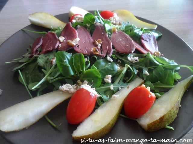 salade magret et poire4