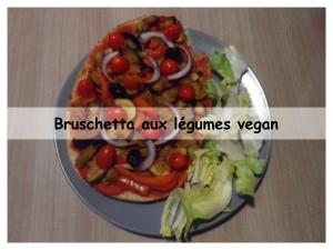 brushetta aux légumes vegan