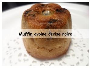 Muffin avoine cerise noire