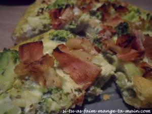 Quiche au pesto brocolis bacon4