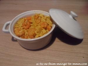 Riz crevette soja curry