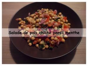 salade de pois chiche persil menthe